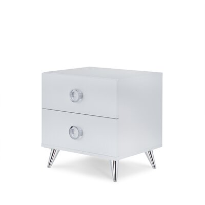 Whitcomb 2 Drawer Nightstand Color: White