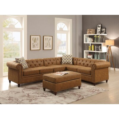 Henking Modular Sectional Upholstery: Brown