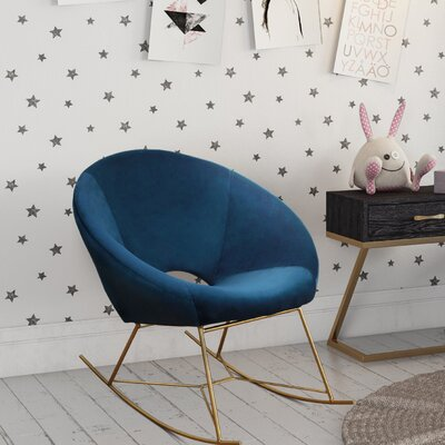Ronan Rocking Chair Fabric: Navy