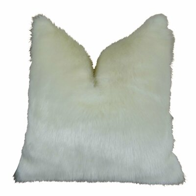 "Jourdan Mink Faux Fur Pillow Size: 22"" x 22"", Fill Material: 95/5 Feather/Down"