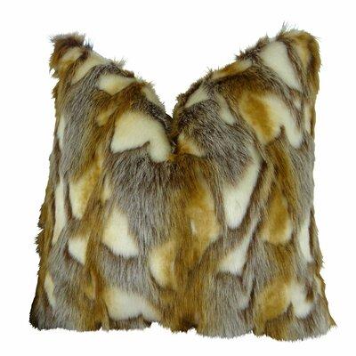 "Wadlington Luxury Rabbit Faux Fur Pillow Size: 20"" x 30"", Fill Material: 95/5 Feather/Down"