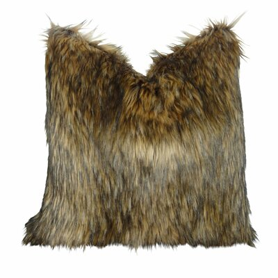 """Wafford Wolf Luxury Faux Fur Pillow Size: 20"""" x 26"""", Fill Material: H-allrgnc Polyfill"""