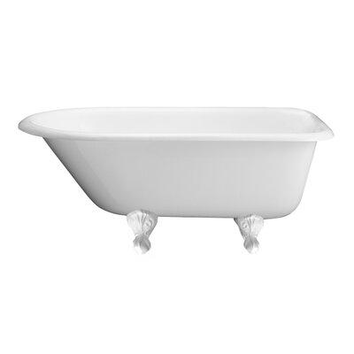 "67"" x 30"" Freestanding Soaking Bathtub Feet Finish: White"