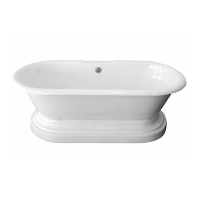 "67"" x 31"" Freestanding Soaking Bathtub"