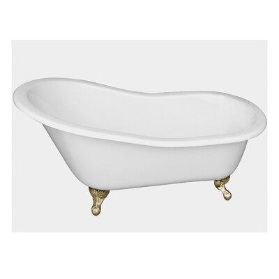 "67"" x 29"" Freestanding Soaking Bathtub Feet Finish: Polished Brass"