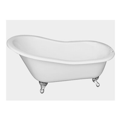 "67"" x 29"" Freestanding Soaking Bathtub Feet Finish: Polished Chrome"