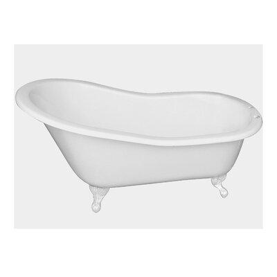 "67"" x 29"" Freestanding Soaking Bathtub Feet Finish: White"
