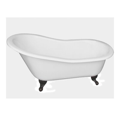 "61"" x 31"" Freestanding Soaking Bathtub Feet Finish: Oil Rubbed Bronze"