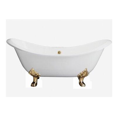 "71"" x 31"" Freestanding Soaking Bathtub Feet Finish: Polished Brass"