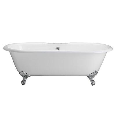 "67"" x 31"" Freestanding Soaking Bathtub Feet Finish: Polished Chrome"