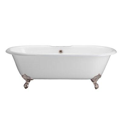 "67"" x 31"" Freestanding Soaking Bathtub Feet Finish: Satin Nickel"