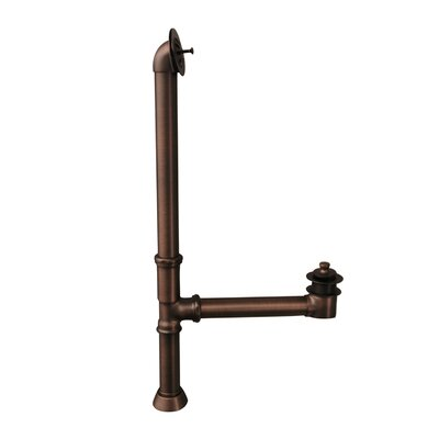 Extended Leg Tub Drain with Overflow Finish: Oil Rubbed Bronze