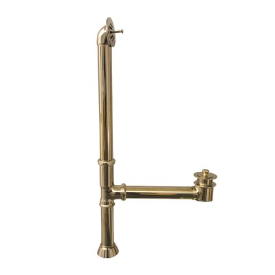Extended Leg Tub Drain with Overflow Finish: Polished Brass