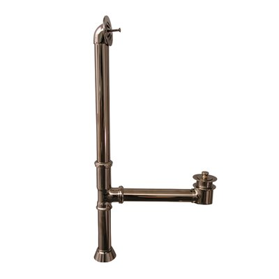 Extended Leg Tub Drain with Overflow Finish: Polished Nickel