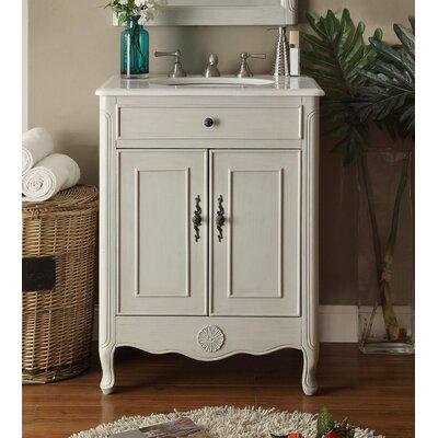 Madelon 26'' Single Bathroom Vanity Set Base Finish: Gray