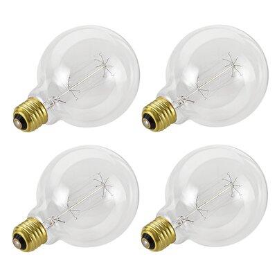 40W E26 Incandescent Edison Globe Light Bulb