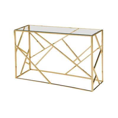 Welton Angled Console Table Table Base Color: Gold