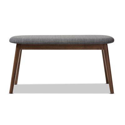 Cronin Mid-Century Upholstered Bench Upholstery: Dark Gray