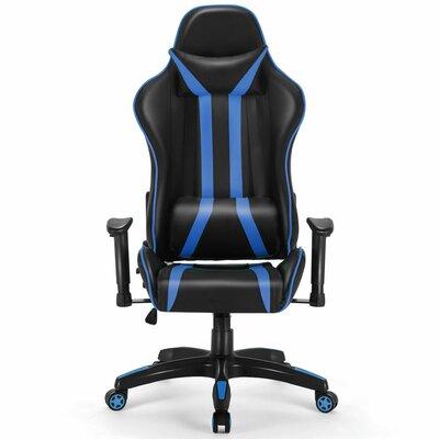 Ergonomic Game Chair Color (Upholstery/Frame): Black/Blue