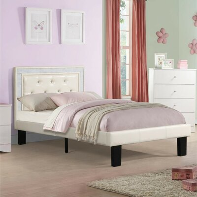 Hollymead Platform Bed Color: White, Size: Full