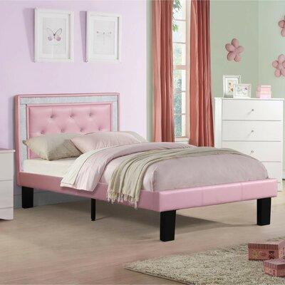 Hollymead Platform Bed Size: Full, Color: Pink
