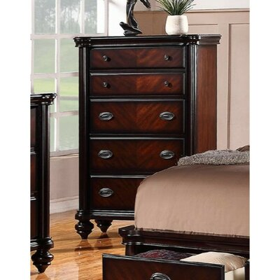 Labounty Plywood 5 Drawer Accent Chest