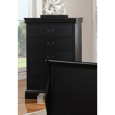 Eure 5 Drawer Accent Chest Color: Black