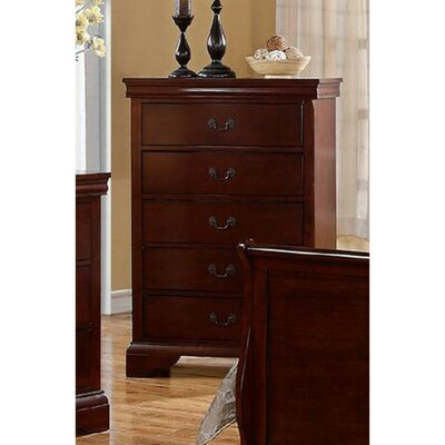 Eure 5 Drawer Accent Chest Color: Cherry