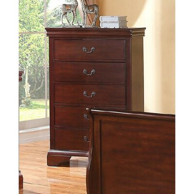 Eure 5 Drawer Accent Chest Color: Walnut