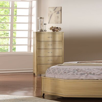 Klingbeil Attractive Bentwood 5 Drawer Accent Chest