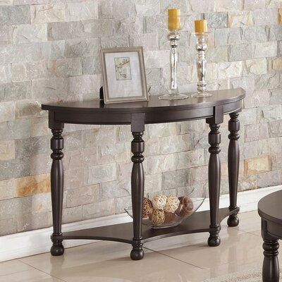 Gladys Wooden Console Table Color: Dark Brown