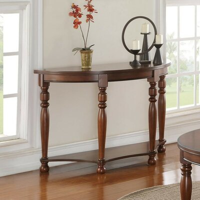 Gladys Wooden Console Table Color: Brown