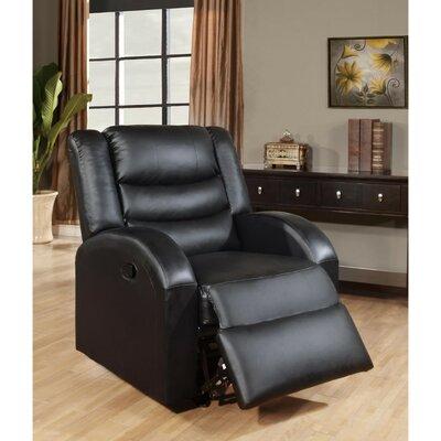 Parkhurst Manual Rocker Recliner Upholstery: Black