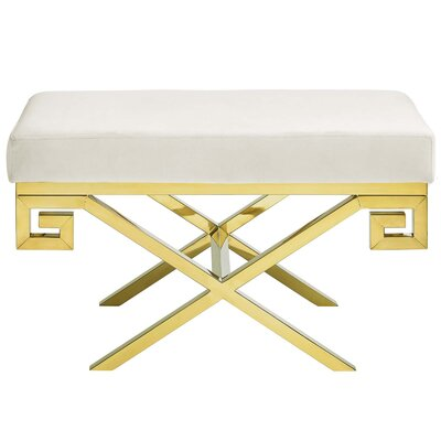 Hwang Upholstered Bench Upholstery: Ivory