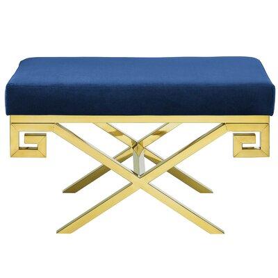 Hwang Upholstered Bench Upholstery: Navy