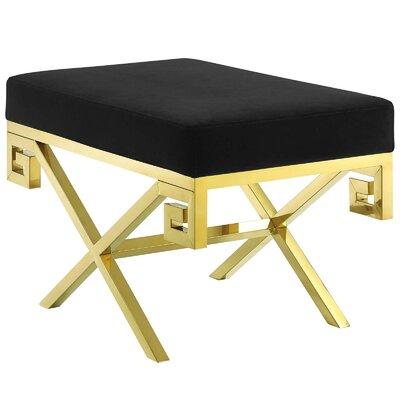 Hwang Upholstered Bench Upholstery: Black