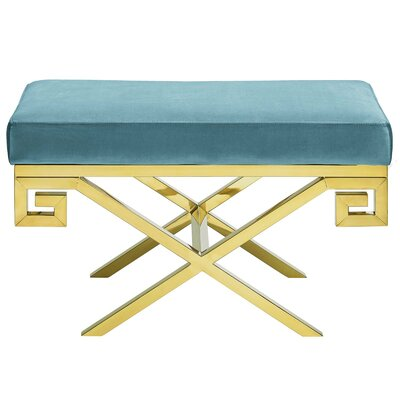 Hwang Upholstered Bench Upholstery: Sea