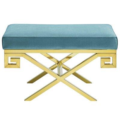 Hwang Upholstered Bench Upholstery: Sea