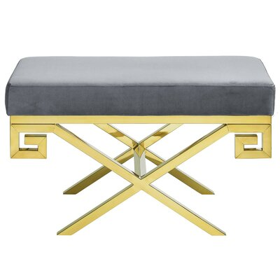 Hwang Upholstered Bench Upholstery: Gray