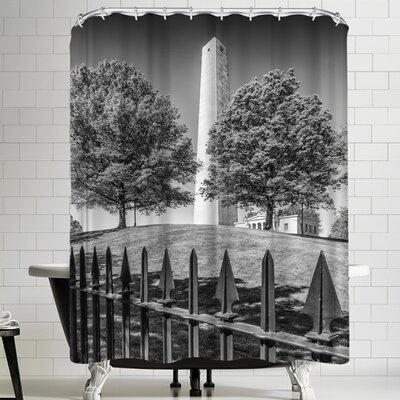 Melanie Viola Boston Bunker Hill Monument Shower Curtain