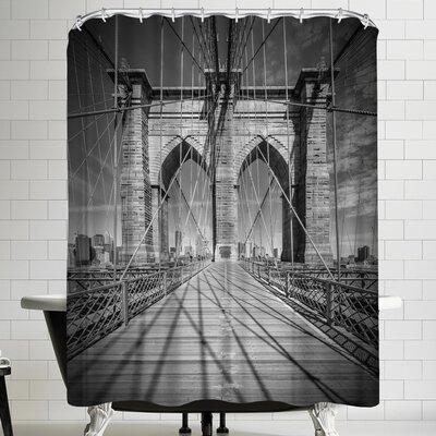 Melanie Viola New York City Brooklyn Bridge Shower Curtain