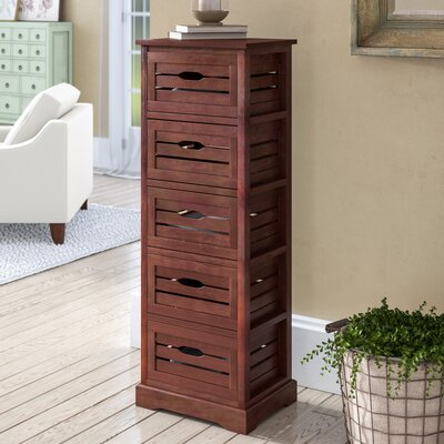Maeline 5 Drawer Accent Chest Color: Cherry
