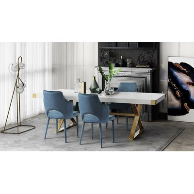 Hollaway 5 Piece Dining Set Chair Color: Gray