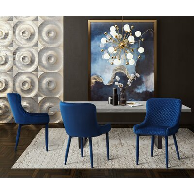 Mcneil 5 Piece Dining Set Chair Color: Navy