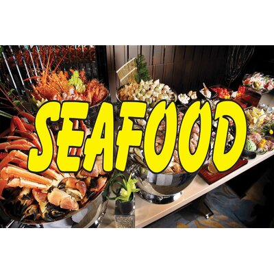 """Seafood Banner Size: 30"""" H x 72"""" W"""