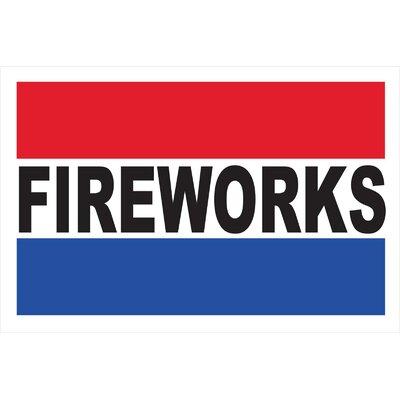 "Fireworks Banner Size: 30"" H x 72"" W"