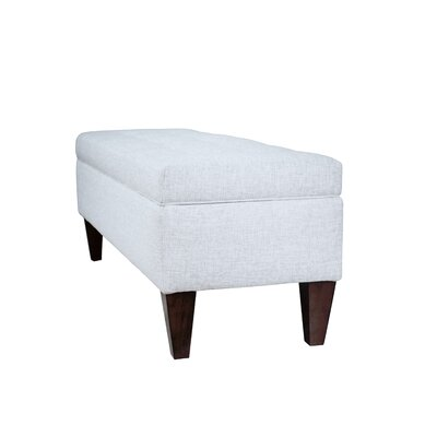 Woodside Upholstered Storage Bench Upholstery: Pebble