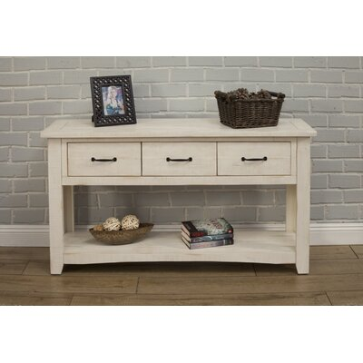 Gillett Console Table Color: Antique White
