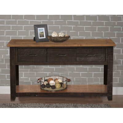Gillett Console Table Color: Antique Black and Honey Tobacco