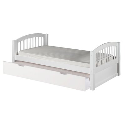 Garling Twin Platform Bed with Trundle Bed Frame Color: White